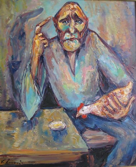 Malerei, Abstrakt, Ei, Frage, Huhn, Philosophie