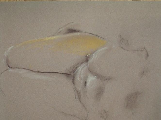 Licht, Gehöht, Liegend, Akt, Pastellmalerei, Zeichnungen
