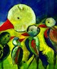 Vogel, Familie, Malerei, Tiere
