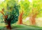Baum, Malerei, Natur