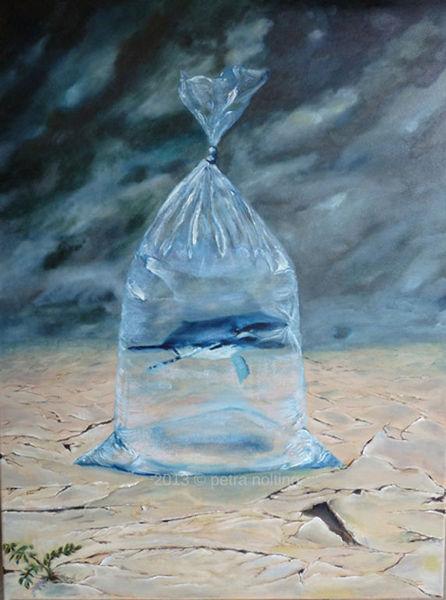 Wasser, Leben, Skulptur, Raum, Tüte, Ölmalerei