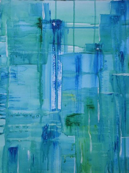 Fenster, Weiß, Abstrakt, Blau, Grün, Malerei