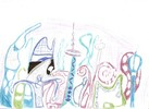 Fantasie, Buntstiftzeichnung, Zeichnung, Zeichnungen
