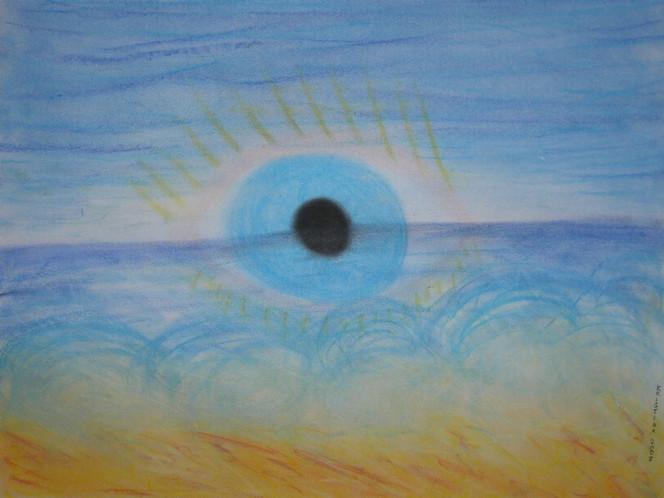 Augen, Blick, Pastellmalerei, Malerei, Abstrakt
