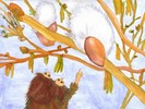 Waldschelme, Aquarellmalerei, Bilderbuch, Aquarell