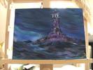 Leuchtturm, Blau, Einsamkeit, Gewitter
