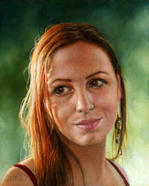 Portrait, Auftragsportrait, Romantik, Fotorealismus, Malerei