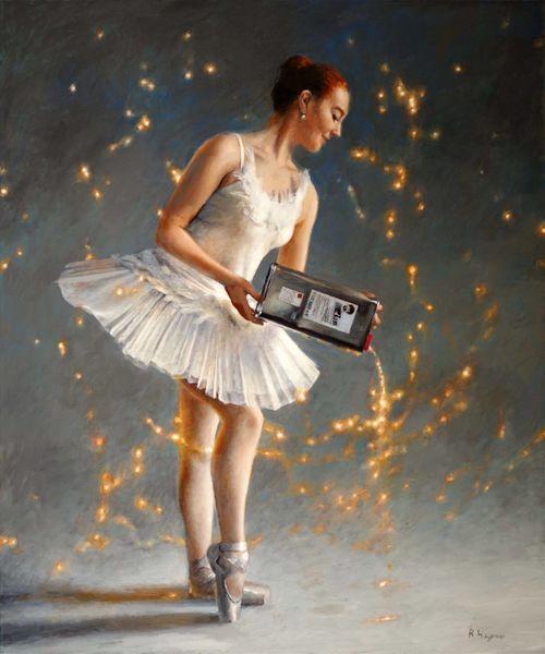 Bob ross, Funke, Ballett, Ballerina, Fotorealismus, Kanister