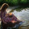 Buch, Ufer, Fotorealismus, Wasserspiegelungm wasser