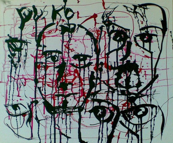 Zeichnungen, Abstrakt, Mann
