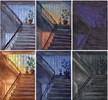 Tag, Treppenhaus, Licht, Nacht
