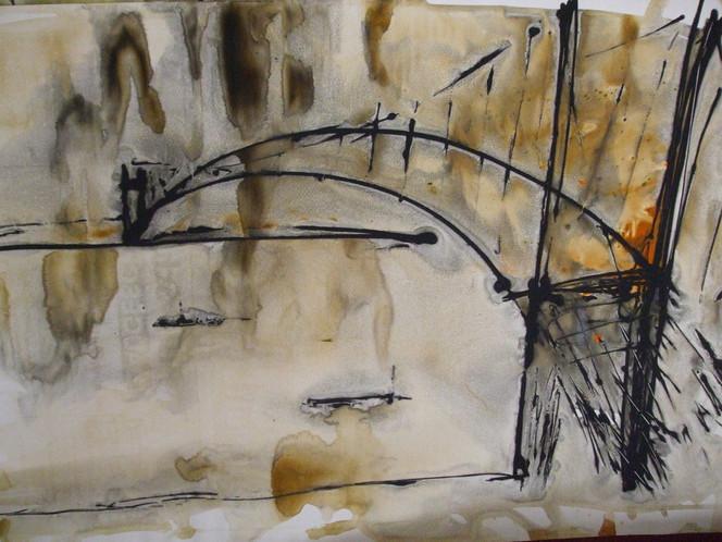 Brücke, Bosporus, Malerei