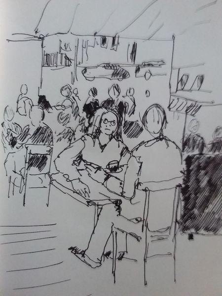 Bäckerei, Kaffee, Gedankenbilder, Illustrationen