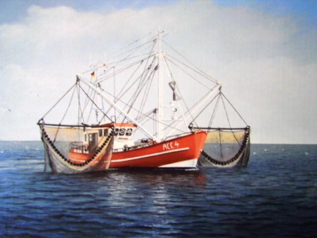 Wasser, Ölmalerei, Nordsee, Wangerooge, Kutter, Malerei