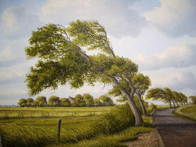 Weite, Landschaft, Ölmalerei, Meer, Ostfriesland, Zeichnungen