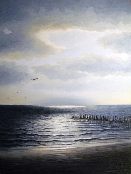 See, Meer, Watt, Nordsee, Ölmalerei, Ostfriesland