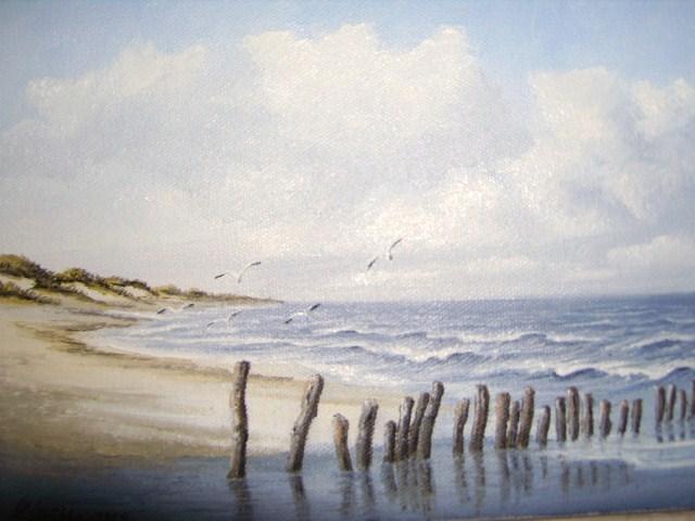 Weite, Friesland, Nordsee, Ostfriesland, Watt, Malerei