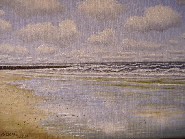 Sand, Norden, Meer, Strand, Malerei, Nordsee