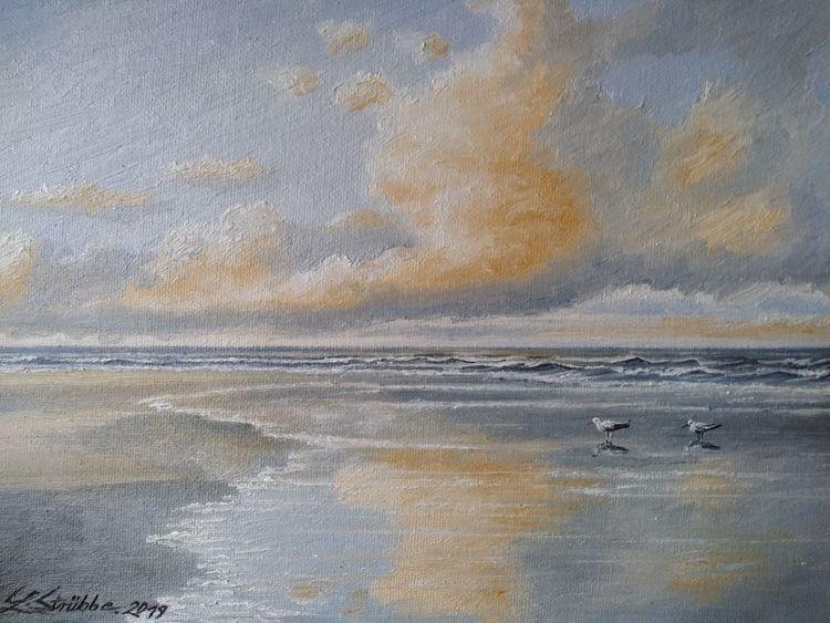 Meer, Möwe, Malerei, Nordsee,