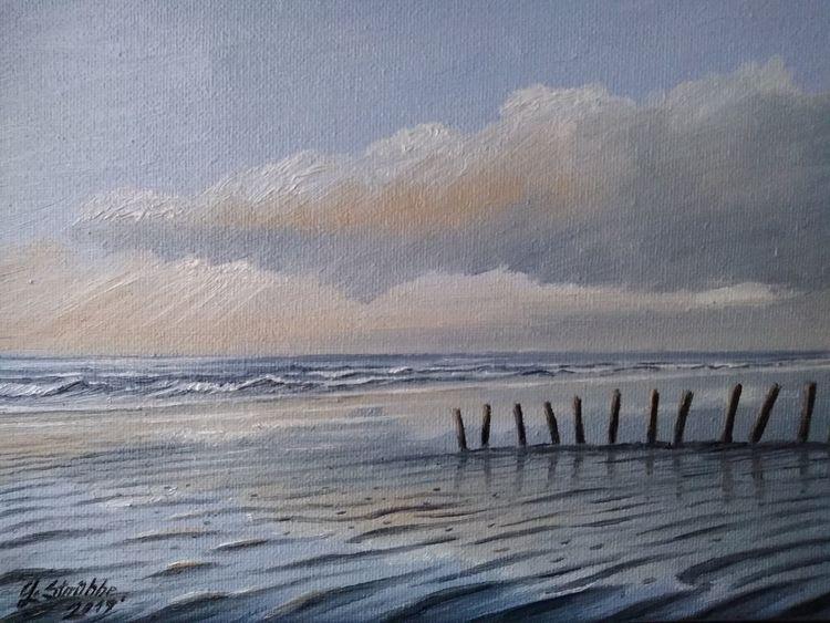 Norden, Watt, Sonnenlicht, Nordsee, Strand, Malerei