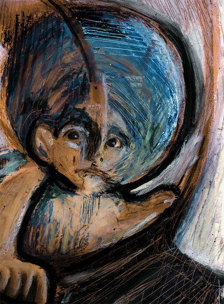 Mund, Blau, Kopf, Nase, Malerei