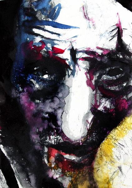 Expressionismus, Menschen, Ausdruck, Gesicht, Abstrakt, Aquarell