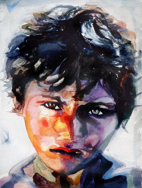 Gesicht, Bunt, Licht, Ausdruck kind, Portrait, Menschen