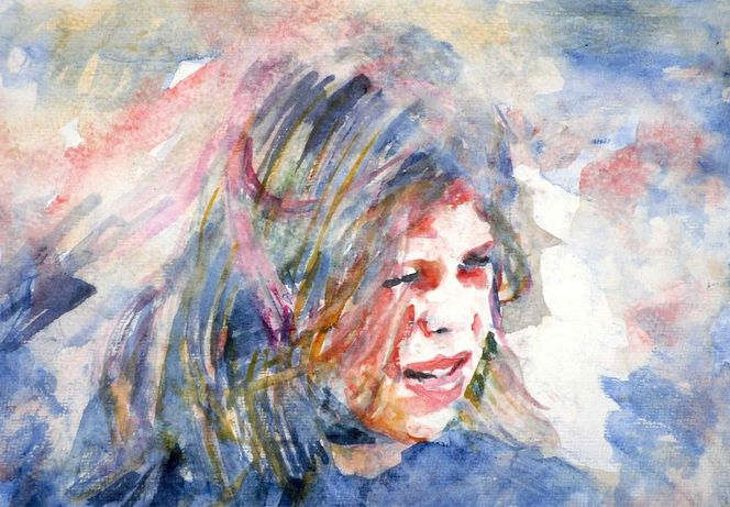 Kind, Aquarellmalerei, Portrait, Aquarell