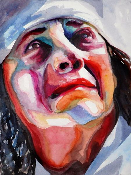 Portrait, Farben, Frau, Licht, Blick, Gesicht