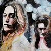 Aquarellmalerei, Blick, Menschen, Ausdruck