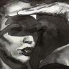 Aquarellmalerei, Schatten, Monochrom, Frau