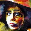 Frau, Hut, Blick, Farben