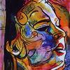 Menschen, Ausdruck, Frau, Farben