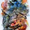 Acrylmalerei, Zeichen, Dekoration, Abstrakt