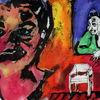 Skurril, Expressionismus, Menschen, Farben