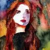 Frau, Blick, Farben, Ausdruck