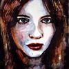 Mädchen, Ausdruck, Gesicht, Aquarellmalerei