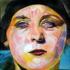 Portrait, Frau, Farben, Frontal