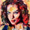 Figurativ, Frau, Expressionismus, Portrait
