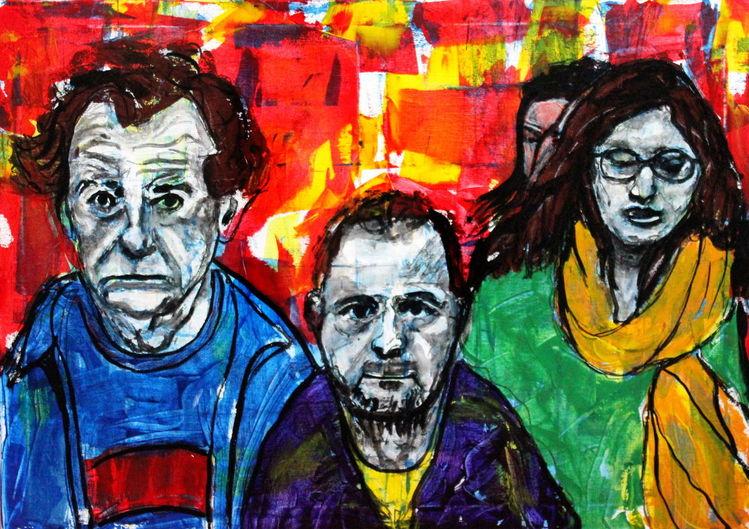 Expressionismus, Menschen, Ausdruck, Farben, Figurativ, Malerei