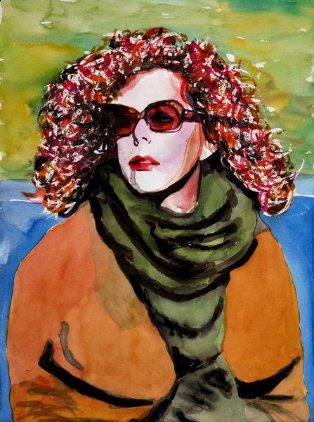 Blick, Brille, Ausdruck, Portrait, Farben, Frau