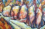 Weg, Baum, Landschaft, Herbst