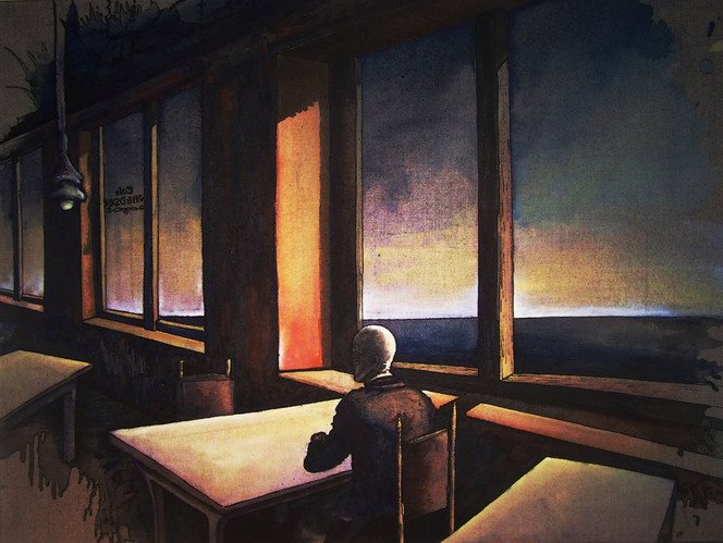 Hopper, Psychoanalyse, Zeit, Innenraum, See, Einsamkeit