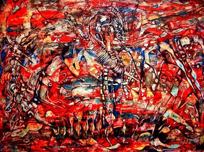 Rot, Malerei, Abstrakt