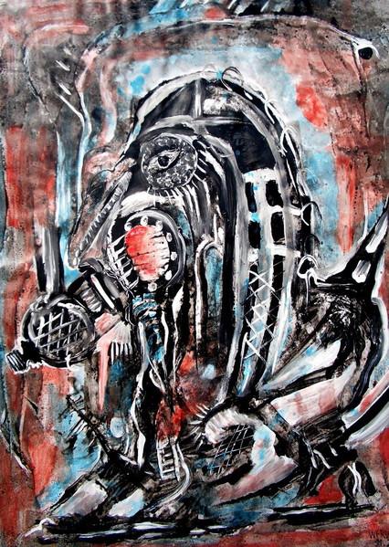 Terror, Malerei, Abstrakt, Zone,