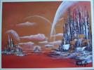 Astronomie, Landschaft, Planet, Stadt