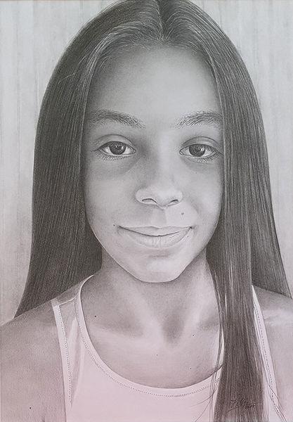 Porträt zeichnen lassen, Haare, Bleistiftzeichnung, Zeichnungen,