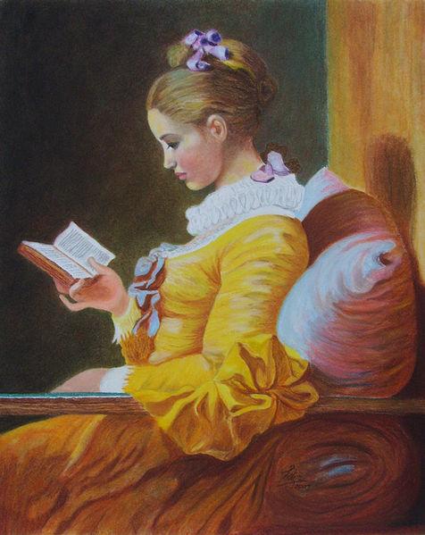 Die leserin, Buch, Die lesende, Sofa, Schleife, Fragonard
