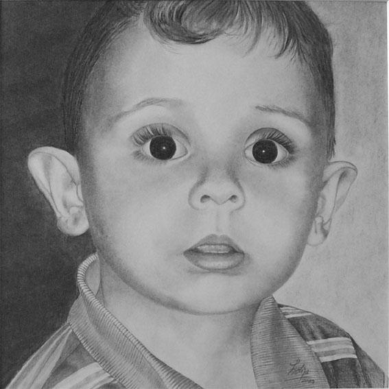 Portrait, Kohlezeichnung, Zeichnung, Zeichnungen