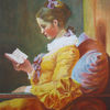 Lesende, Frau, Pastellmalerei, Fragonard